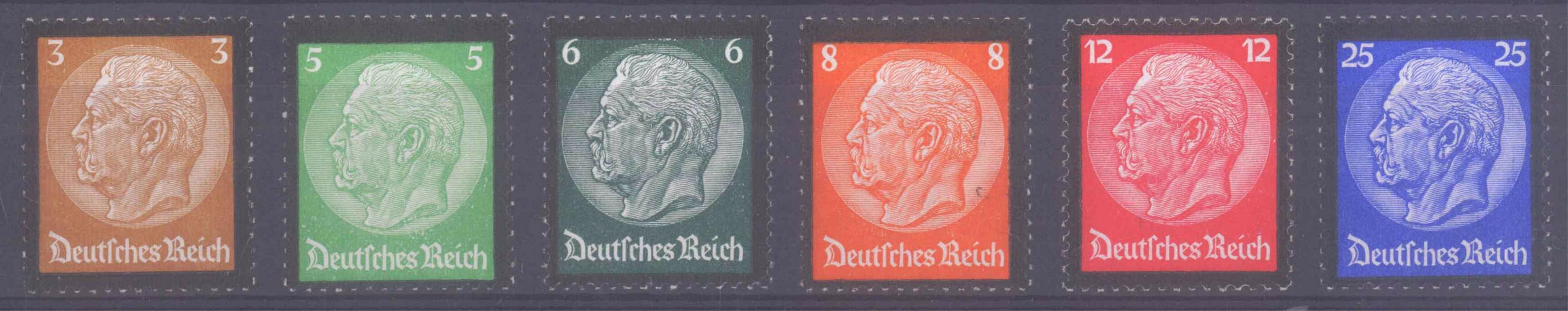 III. Reich 1934, Hindenburg – Trauerrand