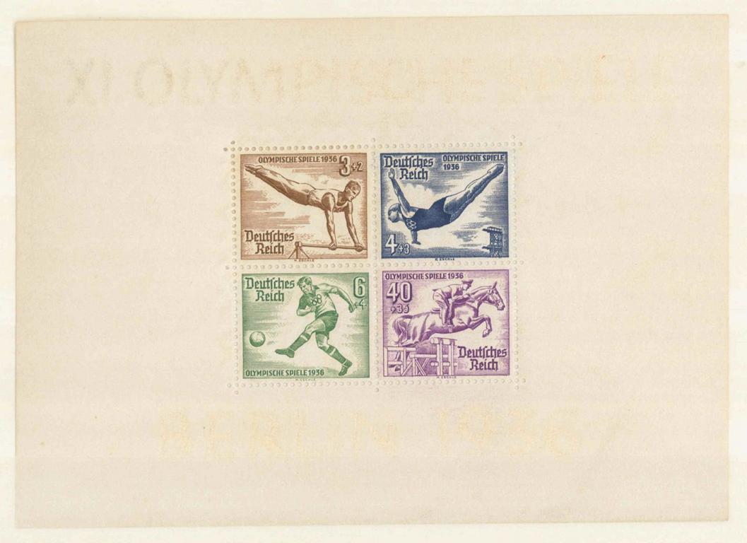 III. Reich 1936, Olympische Sommerspiele – Blockausgabe