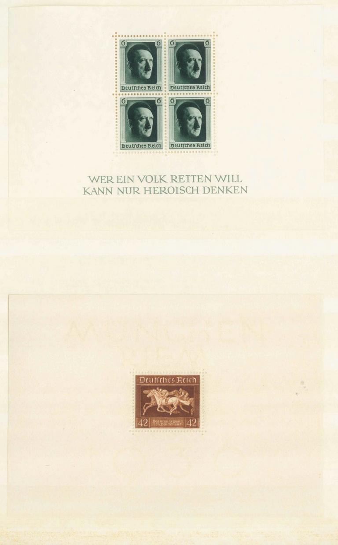III. Reich 1936/1937, Braune Band / Hitler – Blockausgaben