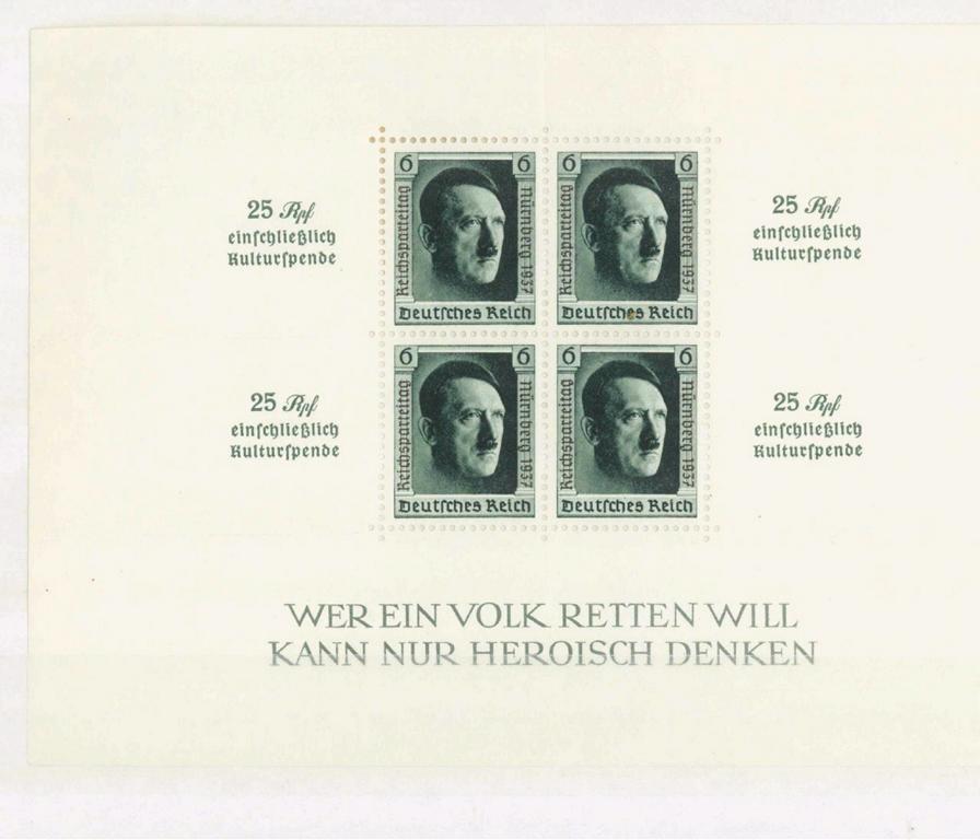 III. Reich 1937, Hitler – Blockausgabe Reichsparteitag