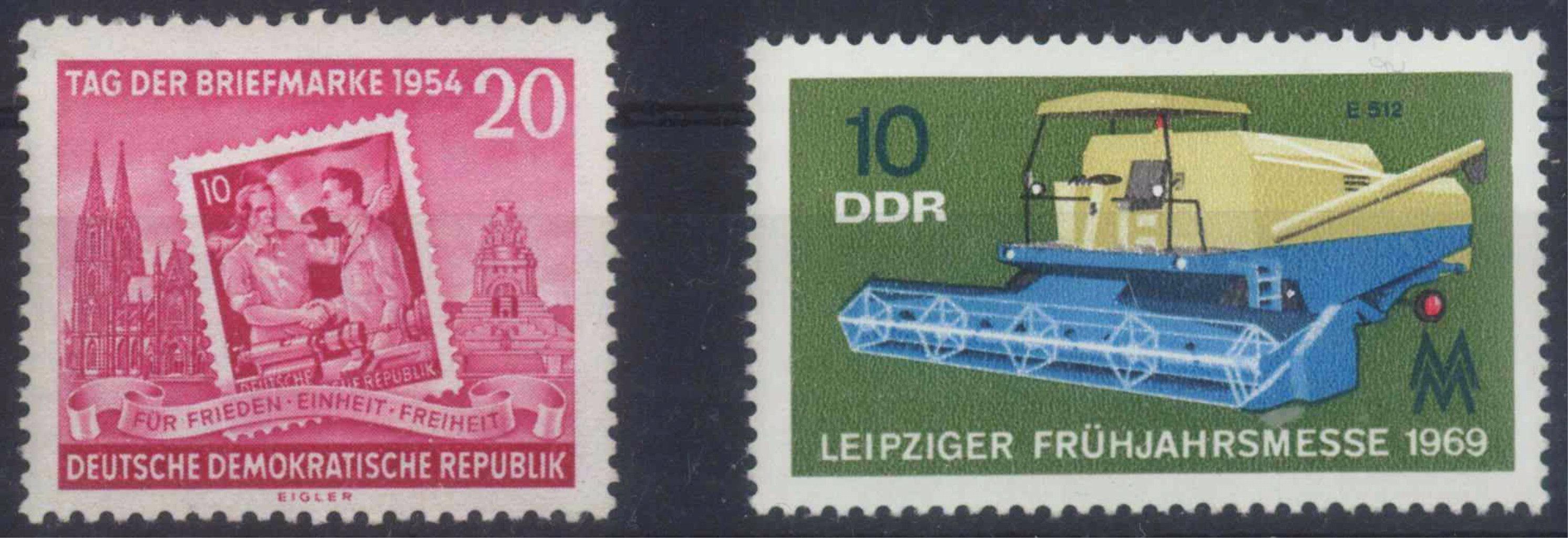 1954 DDR, Tag der Briefmarke Plattenfehler I, KW 120,-Euro