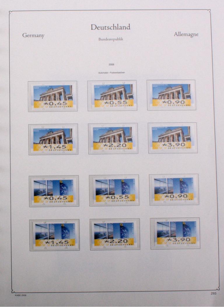 BUND 2001-2009 postfrische NOMINALE mit 534,- EURO-1