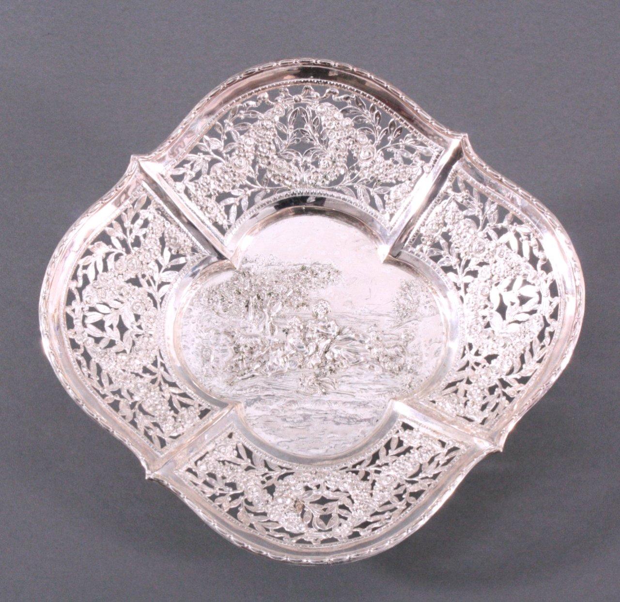 Biedermeier Silberschale