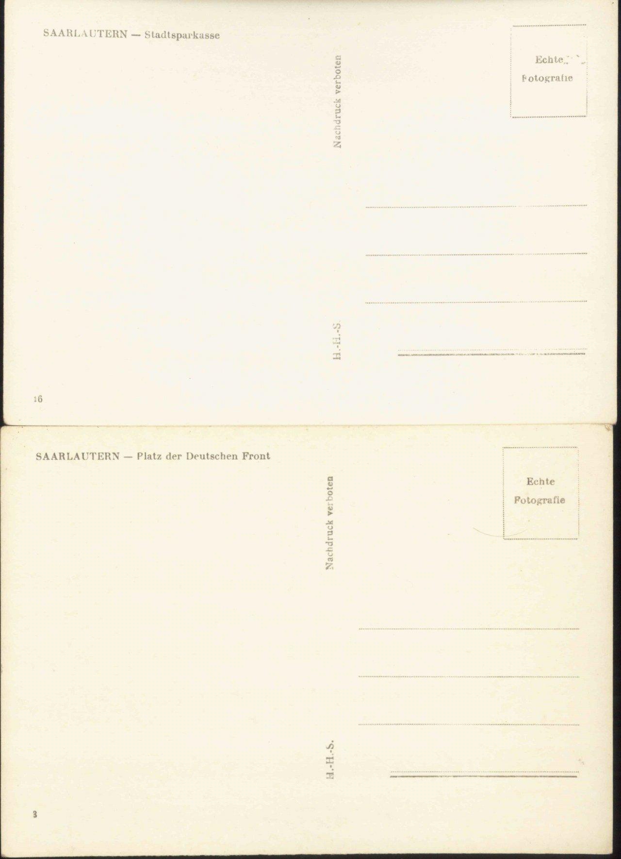 SAARLAUTERN Ansichtskarten, STRASSENBAHN!, OLDTIMER!-1
