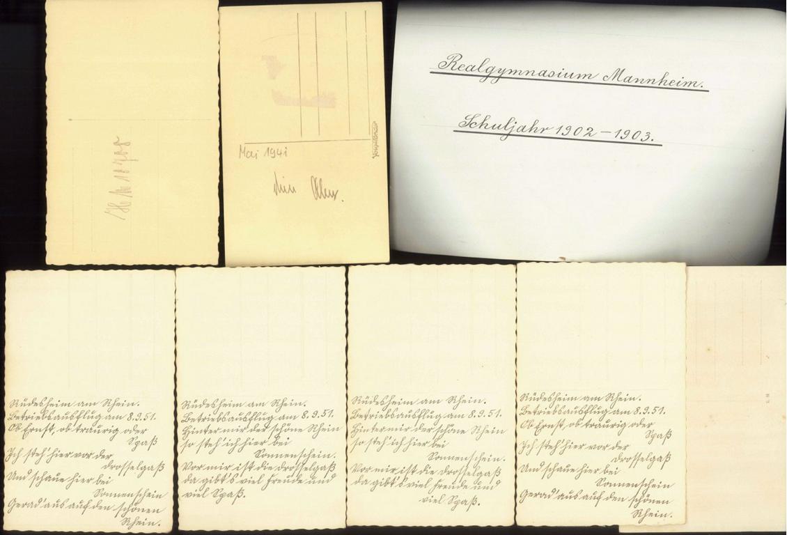 Foto – Ansichtskarten, Fotos MANNHEIM vor 1945-1