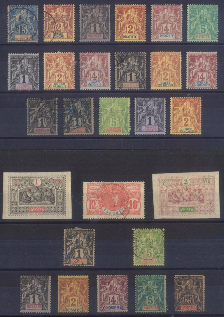 FRANZÖSISCHE KOLONIEN AFRIKA, klassische Marken ab 1892