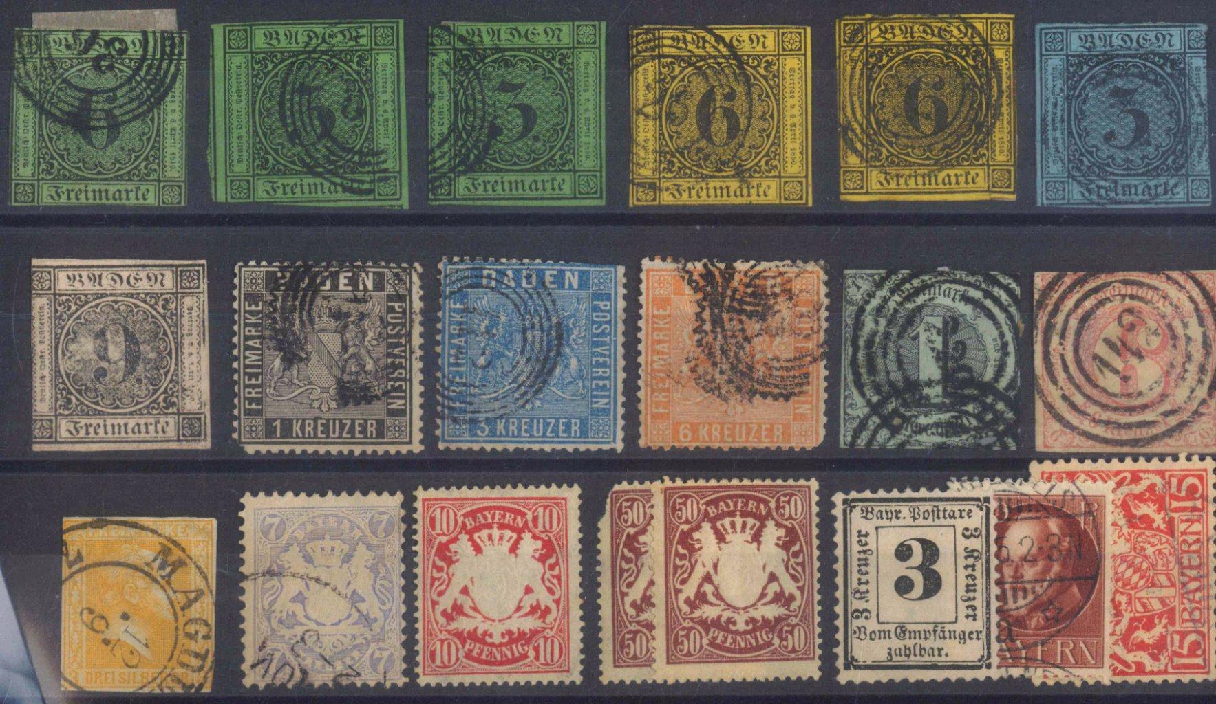 BADEN, klassische Marken ab 1851