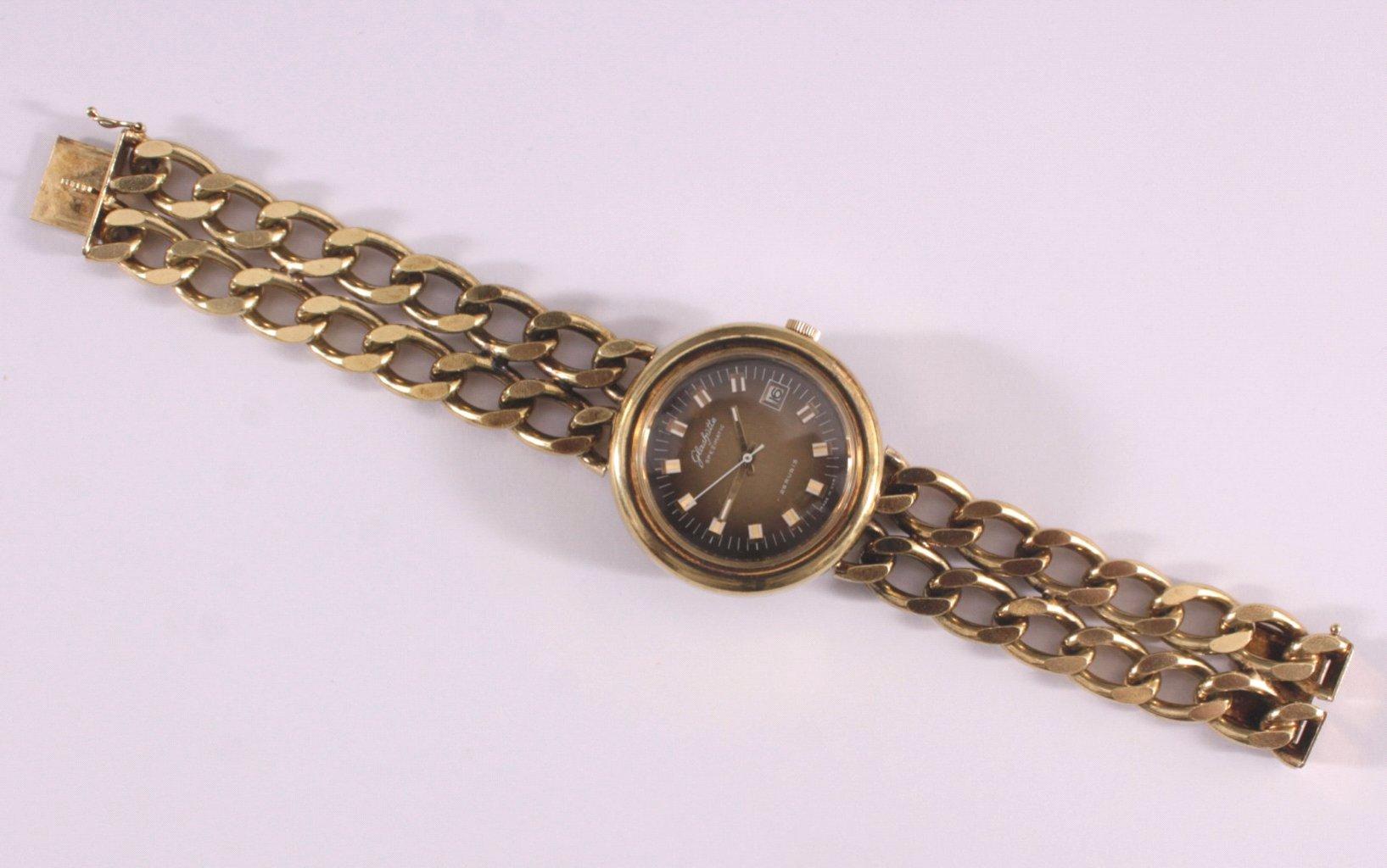 Glashütte Armbanduhr aus den 70er Jahren, Vintage