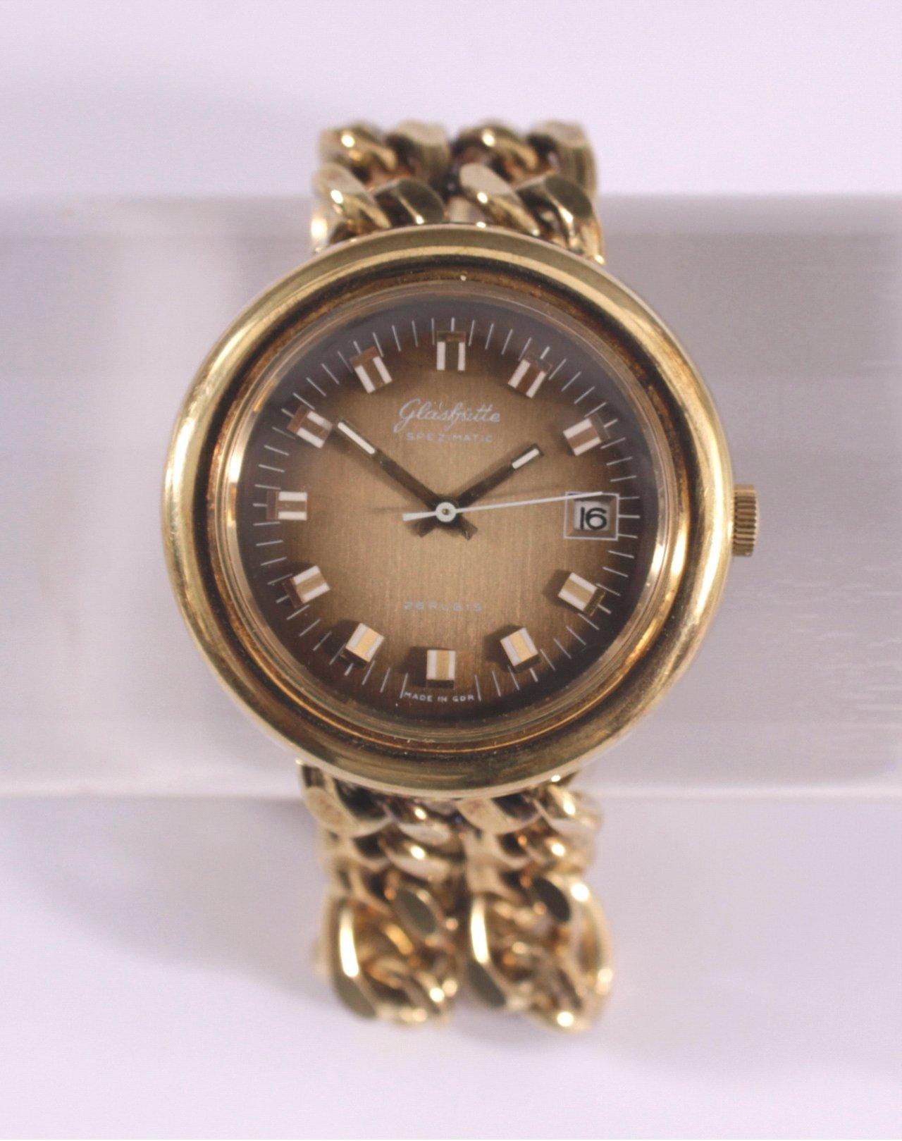 Glashütte Armbanduhr aus den 70er Jahren, Vintage-1