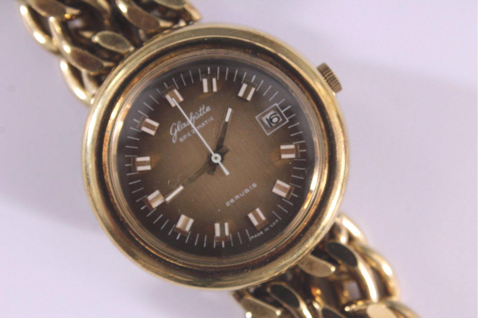 Glashütte Armbanduhr aus den 70er Jahren, Vintage-2