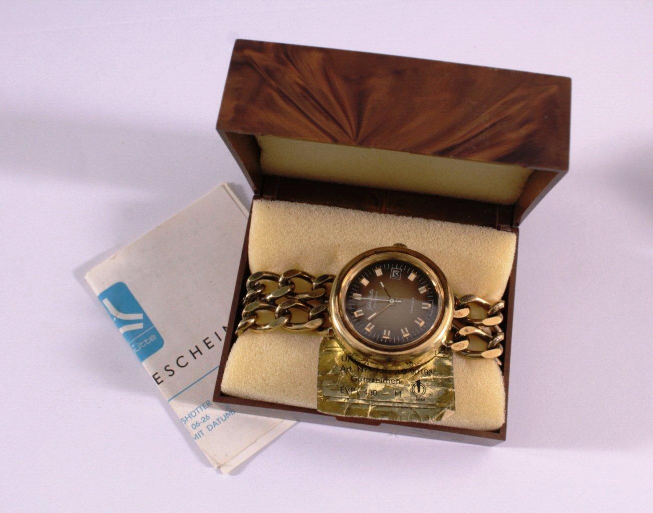 Glashütte Armbanduhr aus den 70er Jahren, Vintage-4