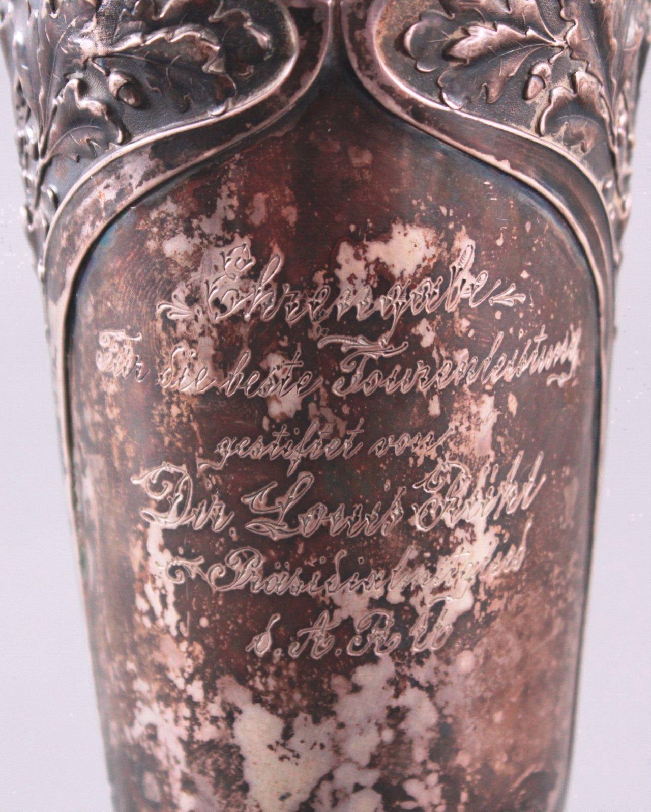Silberpokal um 1900-2