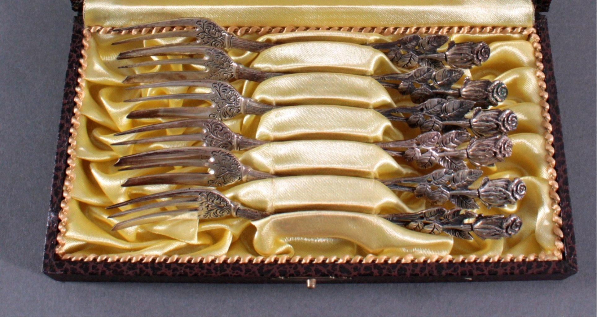 Hildesheimer Rose Kuchengabel, 800er Silber-1