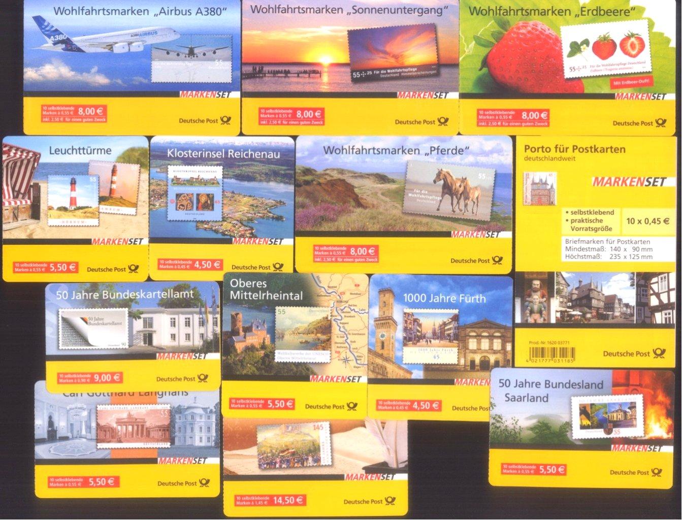 2006-2010 Bund, MARKENHEFTCHEN, 81,- Euro NOMINALE