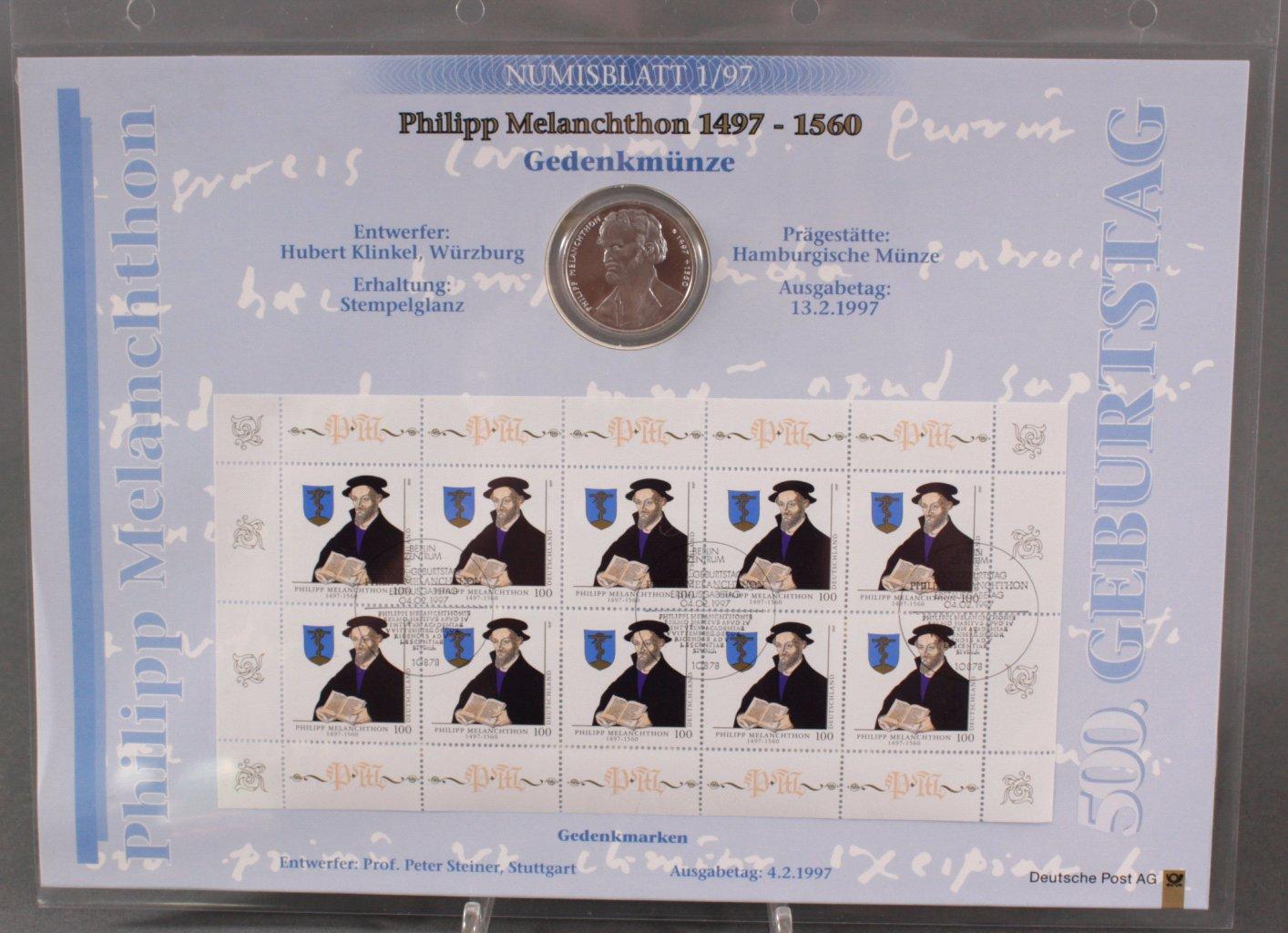 BUND NUMISBLATT 1/97 – PHILIPP MELANCHTHON