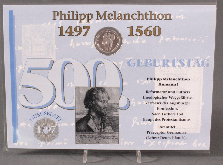 BUND NUMISBLATT 1/97 – PHILIPP MELANCHTHON-1