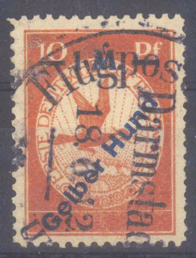 """DEUTSCHES REICH 1912 Flugpost """"GELBER HUND"""""""