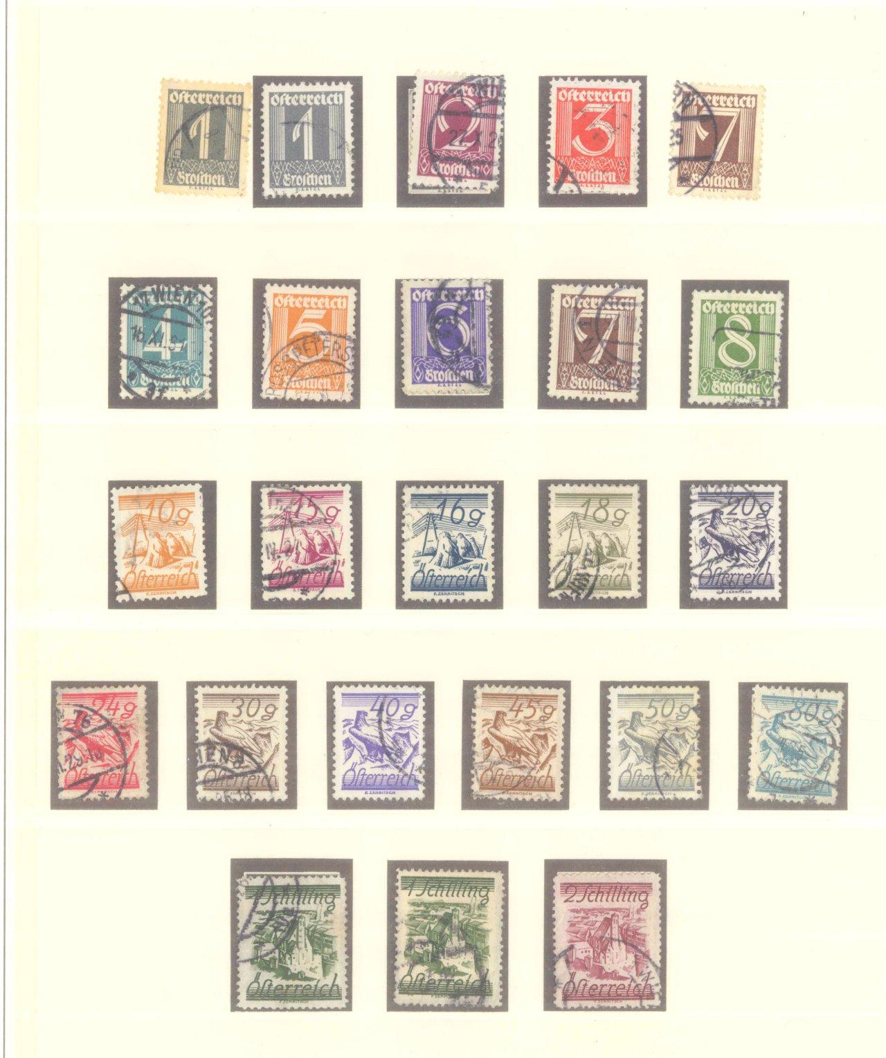 ÖSTERREICH 1925-1937