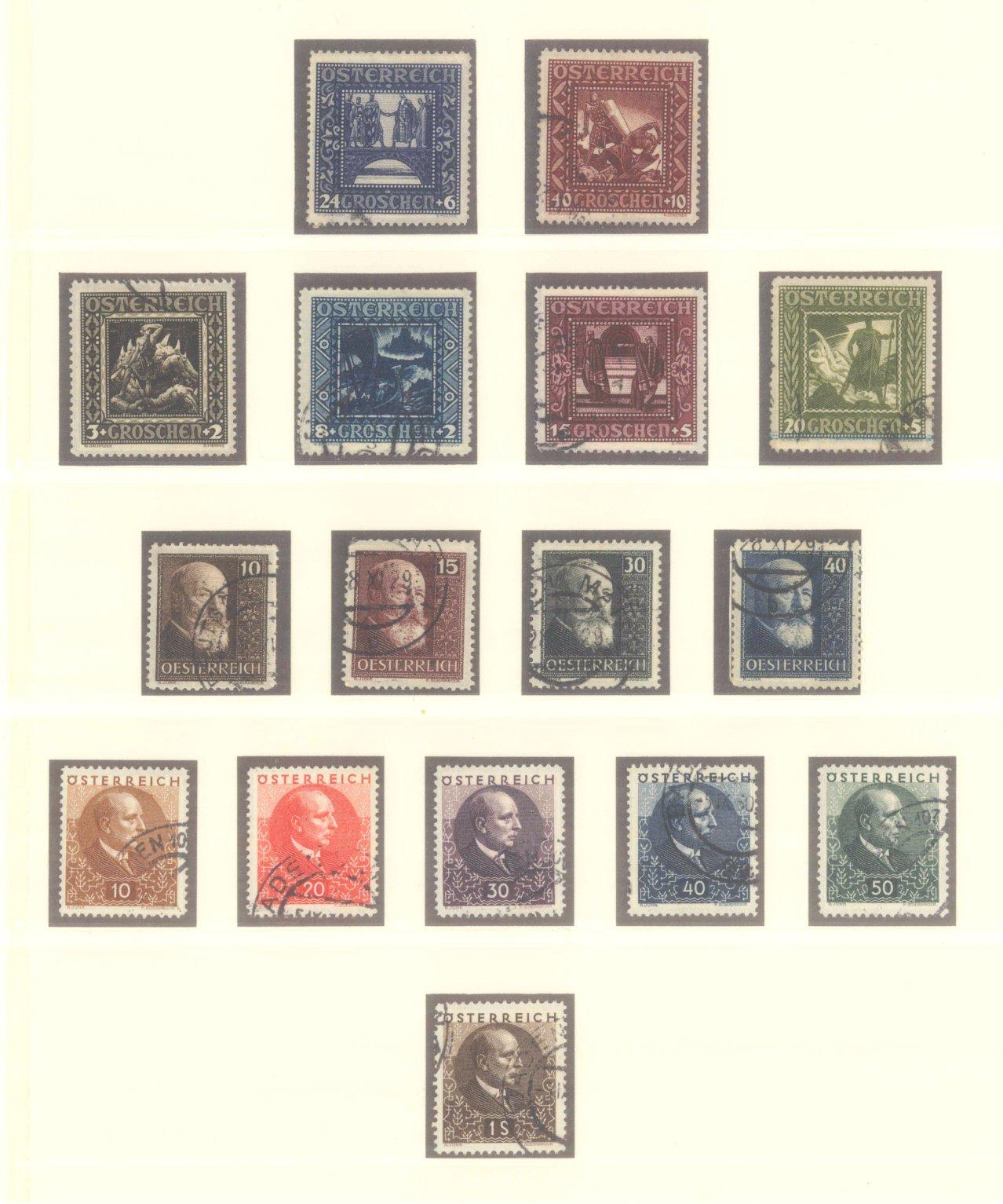 ÖSTERREICH 1925-1937-1
