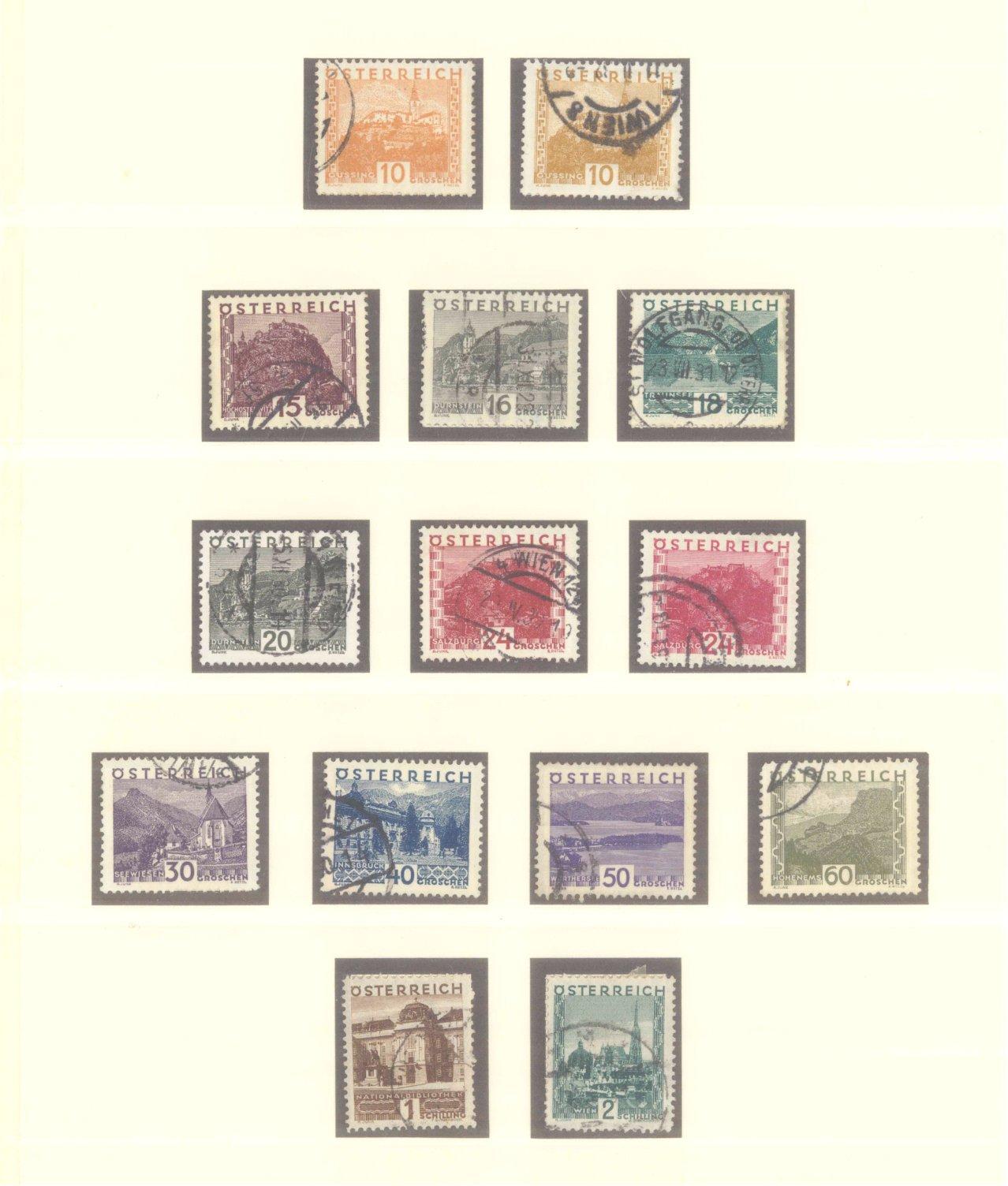 ÖSTERREICH 1925-1937-2