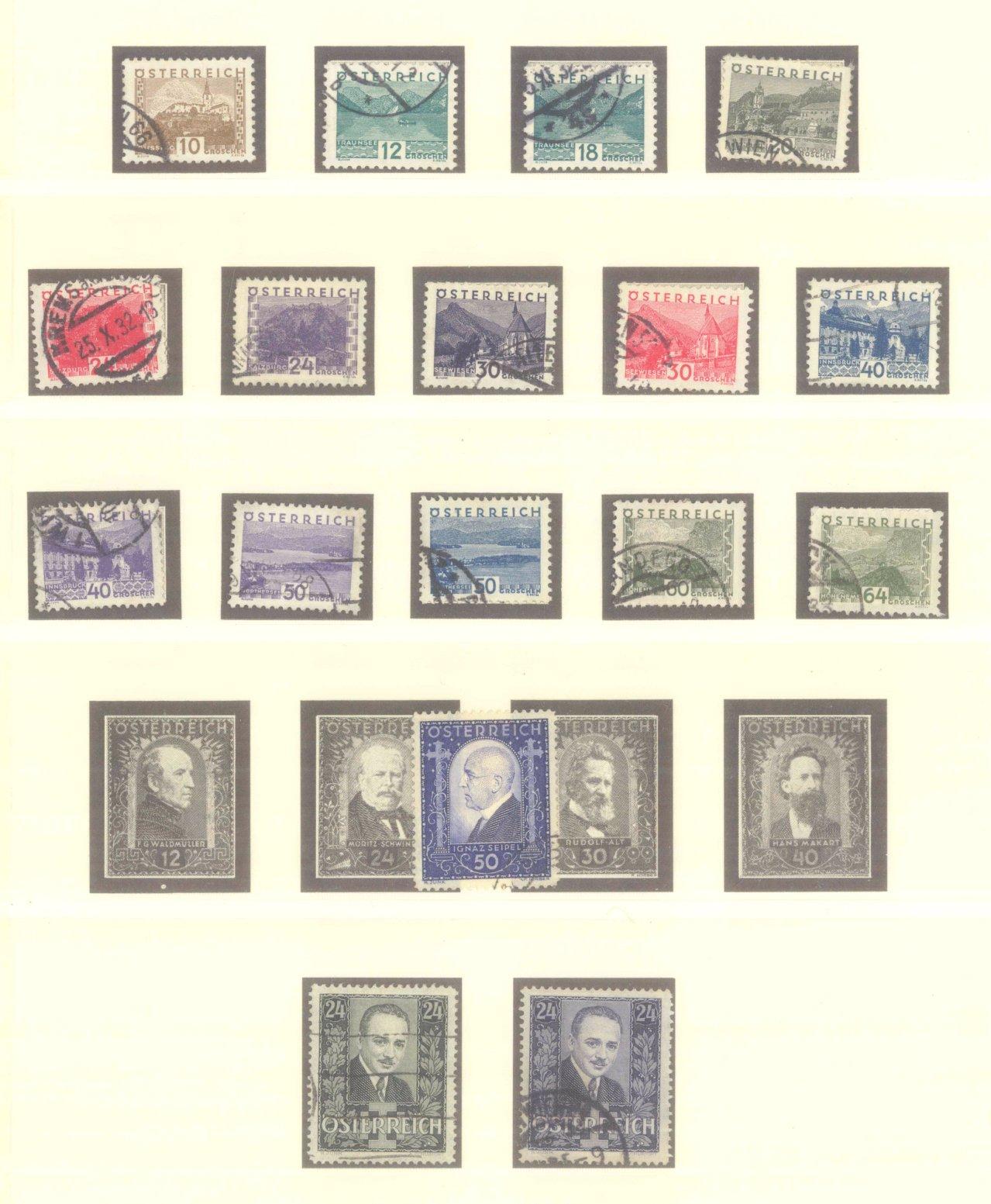 ÖSTERREICH 1925-1937-3
