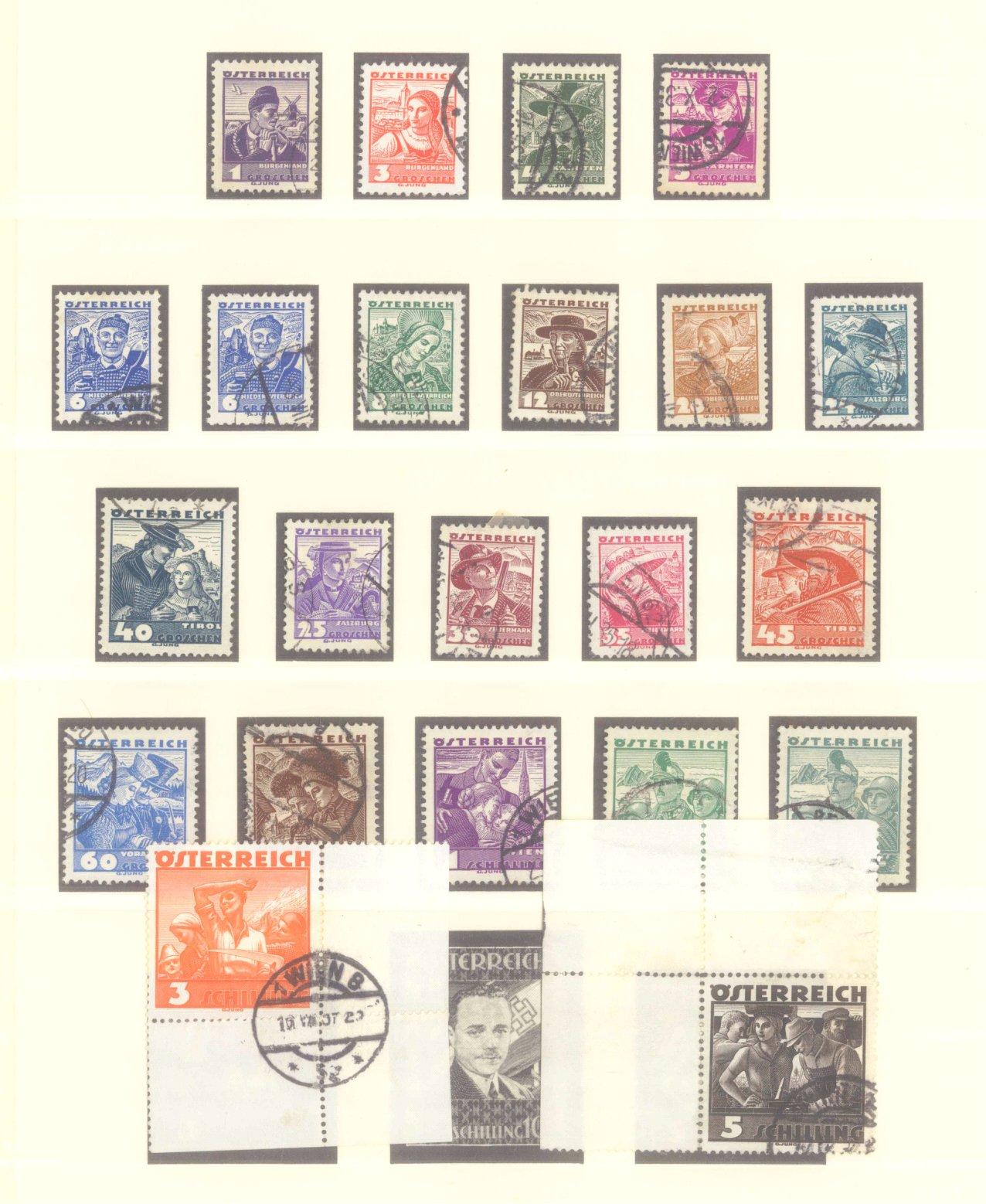 ÖSTERREICH 1925-1937-4