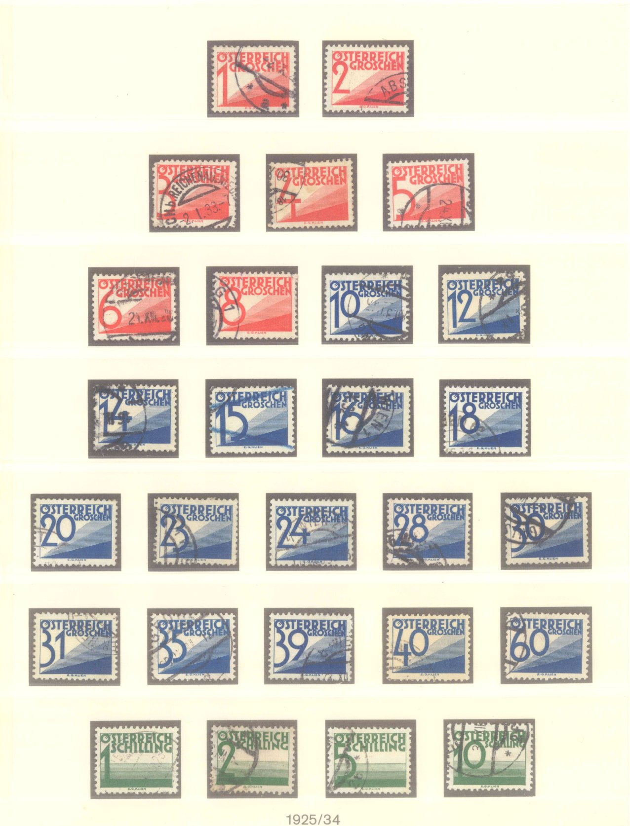 ÖSTERREICH 1925-1937-9