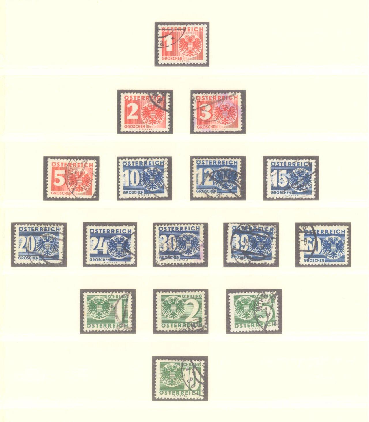 ÖSTERREICH 1925-1937-10
