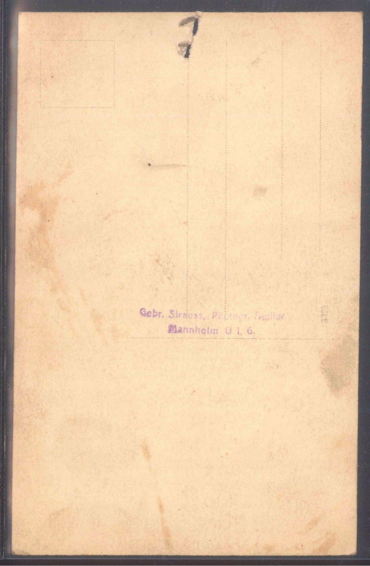 """Ansichtskarte """"Gruss vom Taucher (aus Mannheim)-1"""