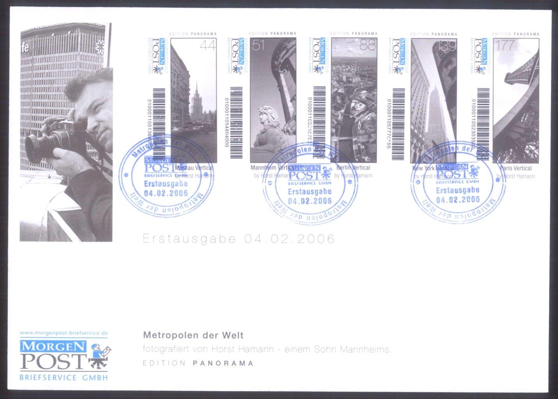 """Deutschland Privatpost 2006-2008 """"Morgen Post"""" Mannheim-1"""
