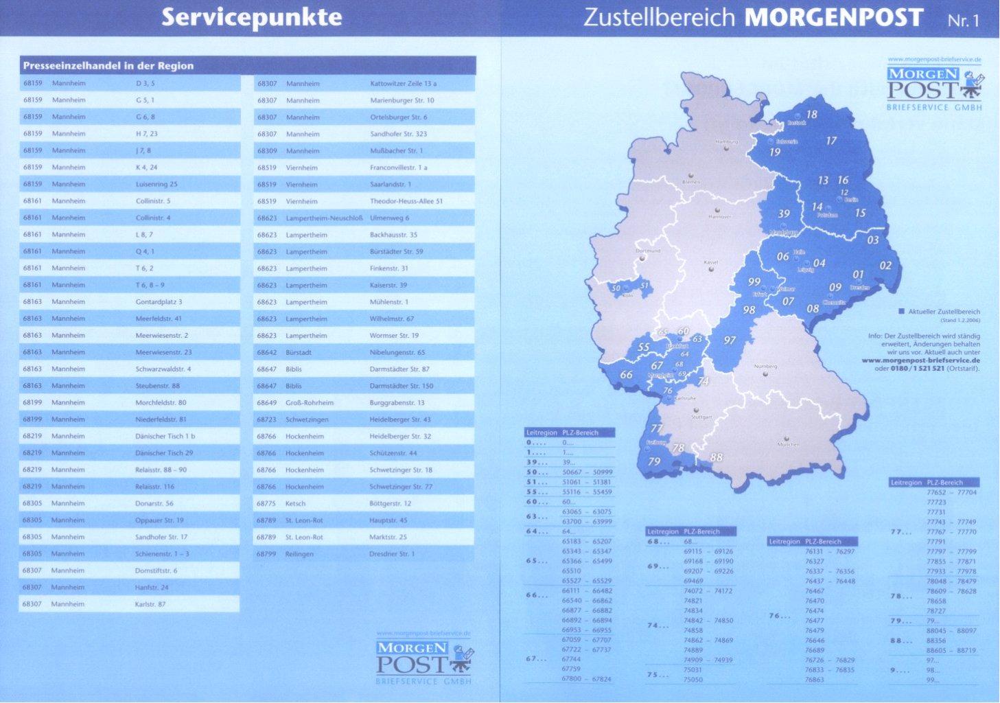 """Deutschland Privatpost 2006-2008 """"Morgen Post"""" Mannheim-3"""