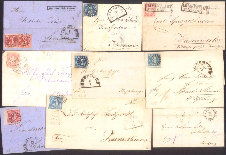 Kleine Sammlung Briefe, Altbriefe hauptsächlich Bayern