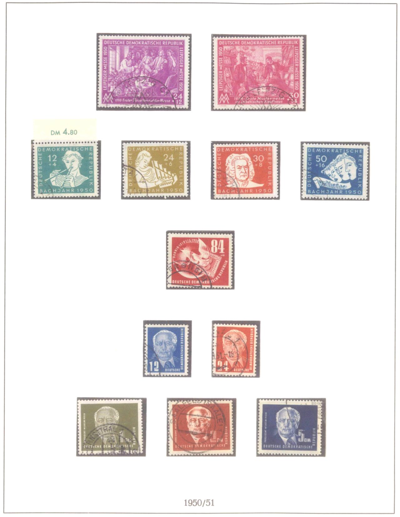 Sammlung DDR 1949-1990, postfrisch und gestempelt