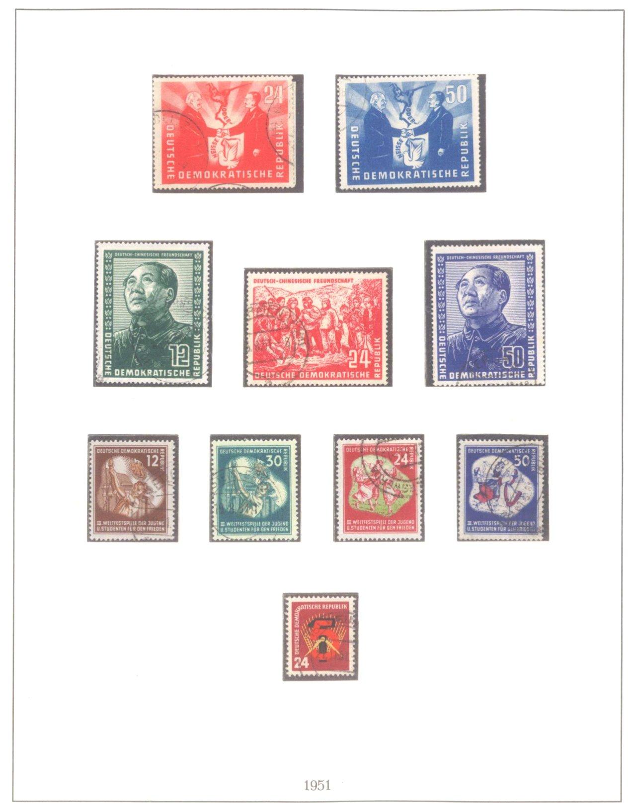 Sammlung DDR 1949-1990, postfrisch und gestempelt-3