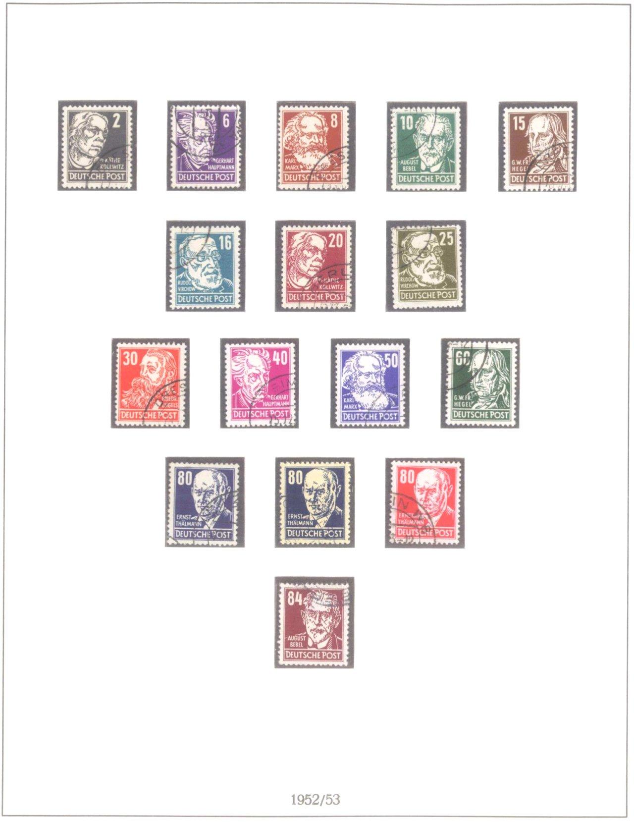 Sammlung DDR 1949-1990, postfrisch und gestempelt-4