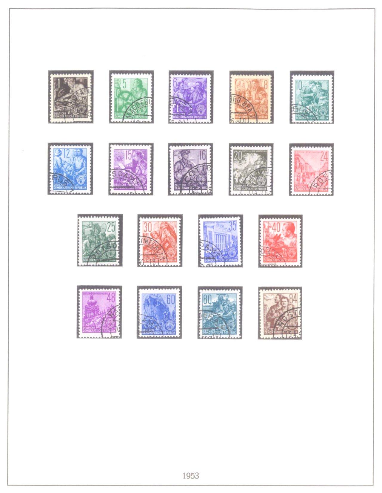 Sammlung DDR 1949-1990, postfrisch und gestempelt-6
