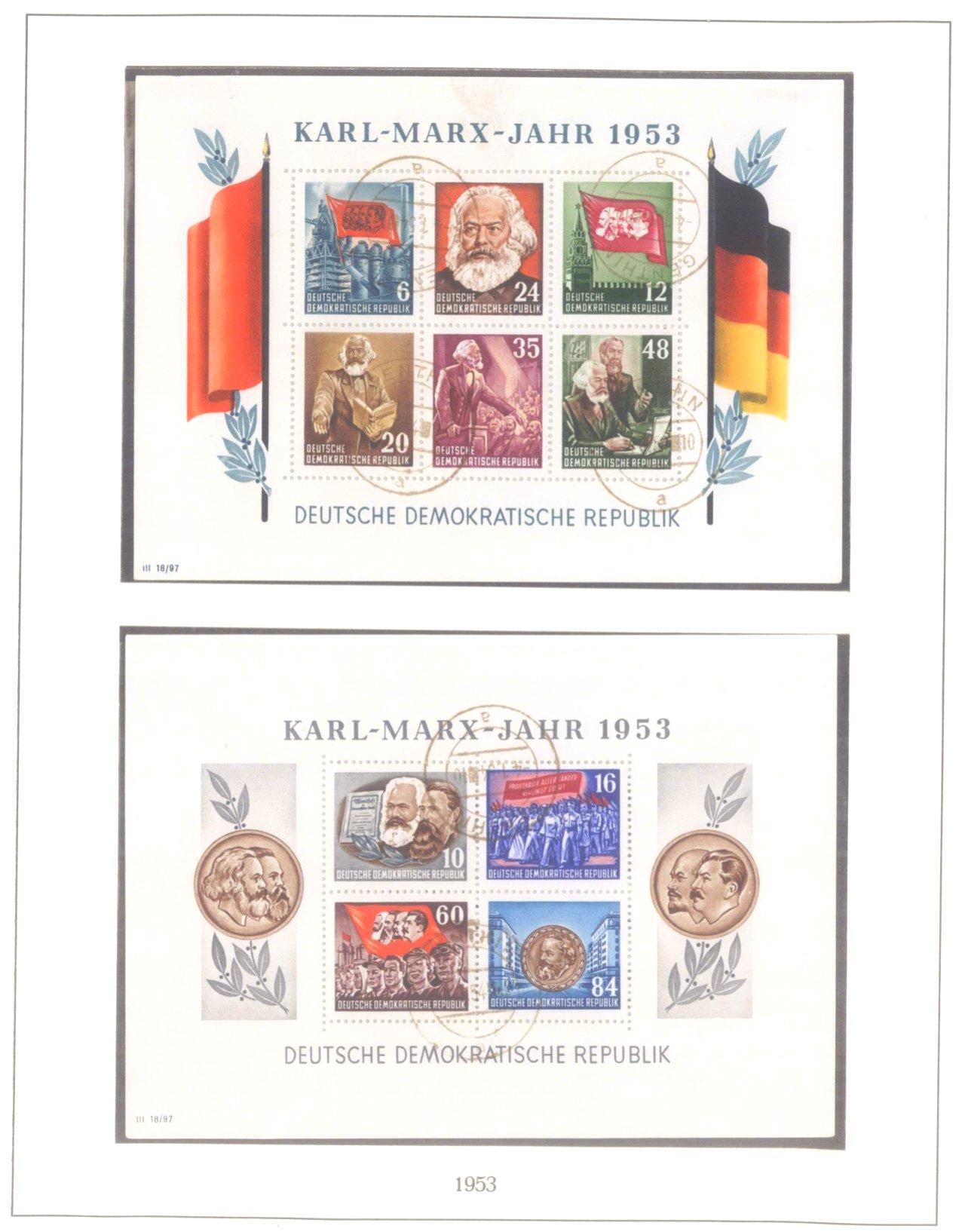 Sammlung DDR 1949-1990, postfrisch und gestempelt-7