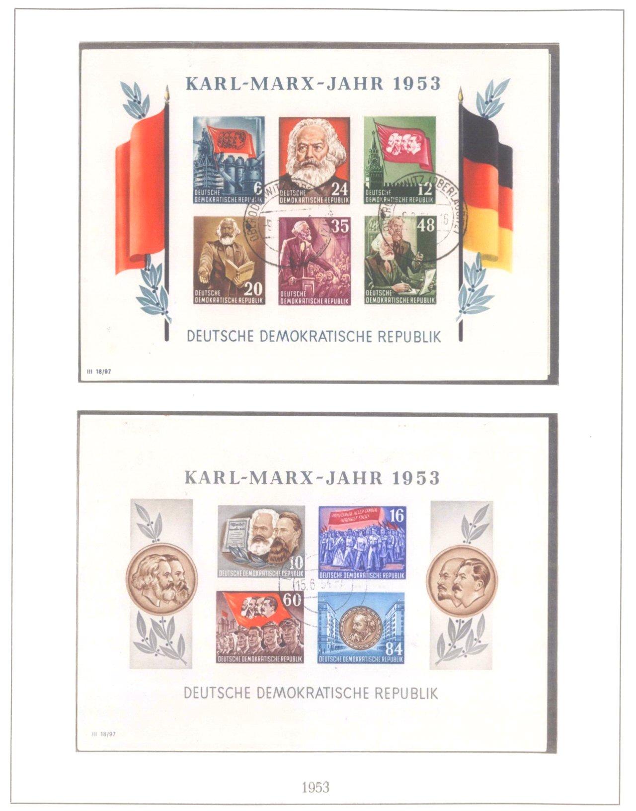 Sammlung DDR 1949-1990, postfrisch und gestempelt-8