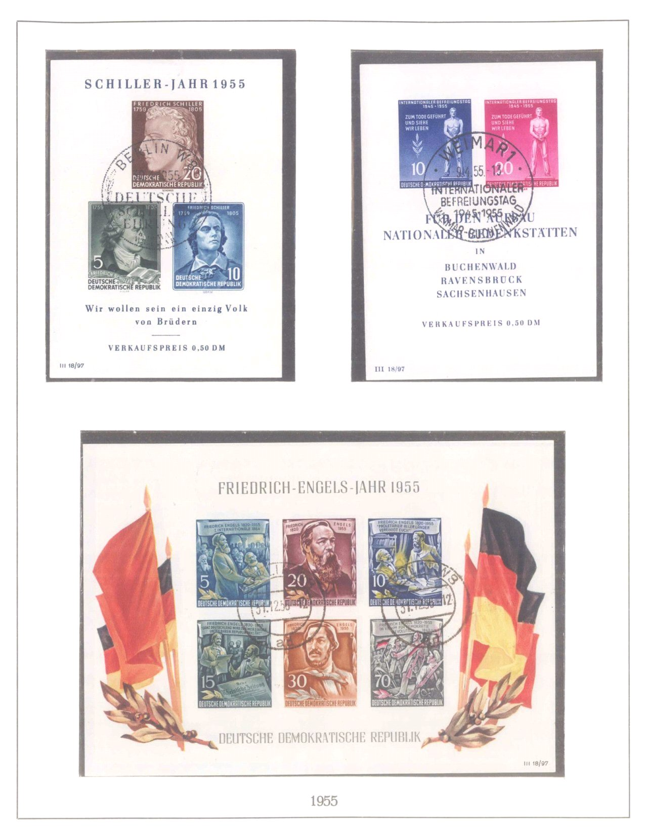 Sammlung DDR 1949-1990, postfrisch und gestempelt-10