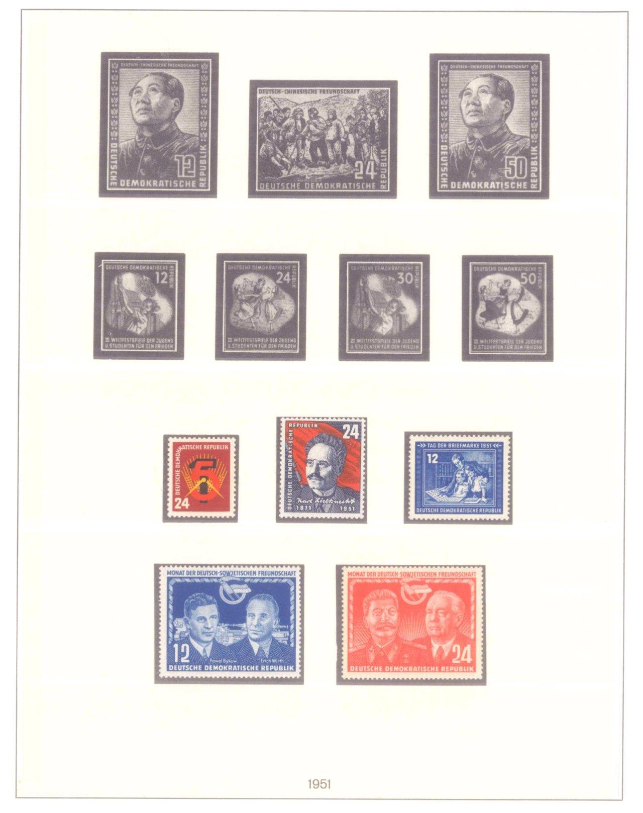 Sammlung DDR 1949-1990, postfrisch und gestempelt-11