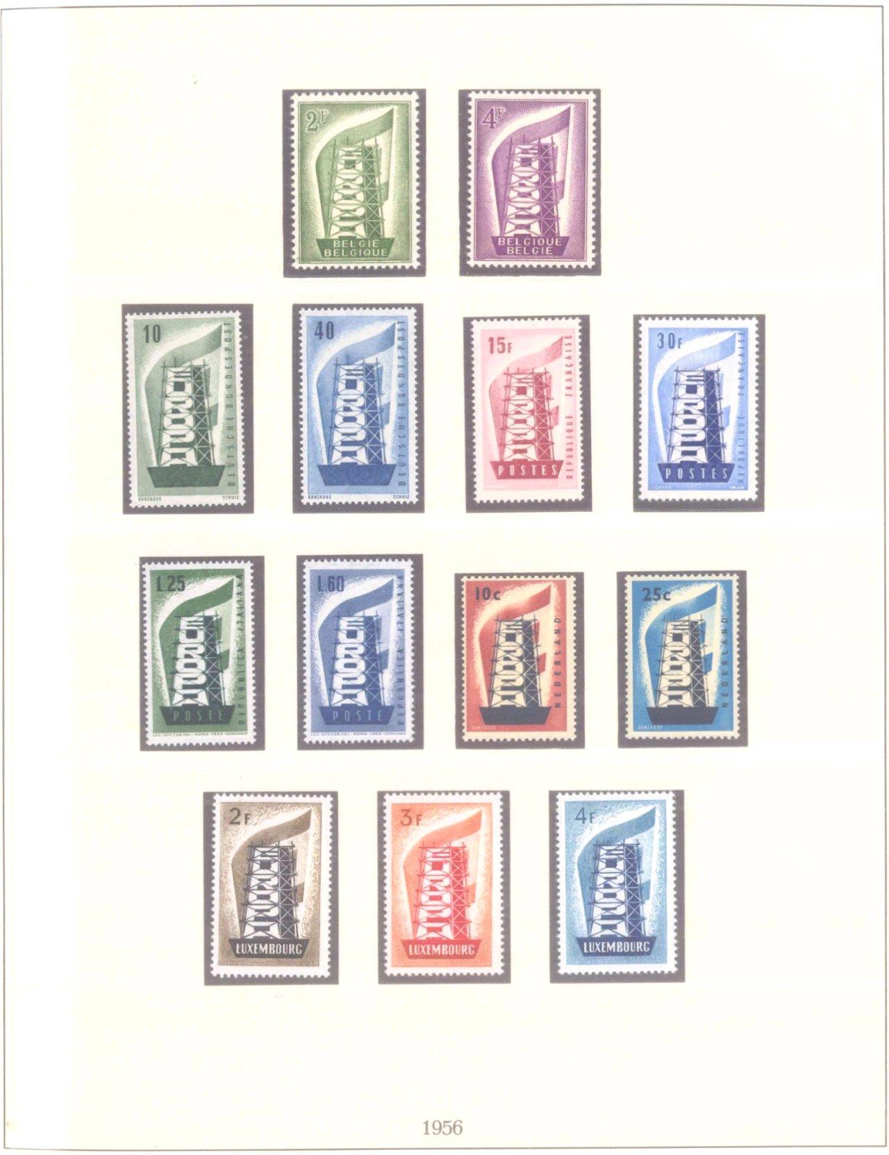 Umfangreiche Europa / CEPT Sammlung 1958-2012 + Mitläufer