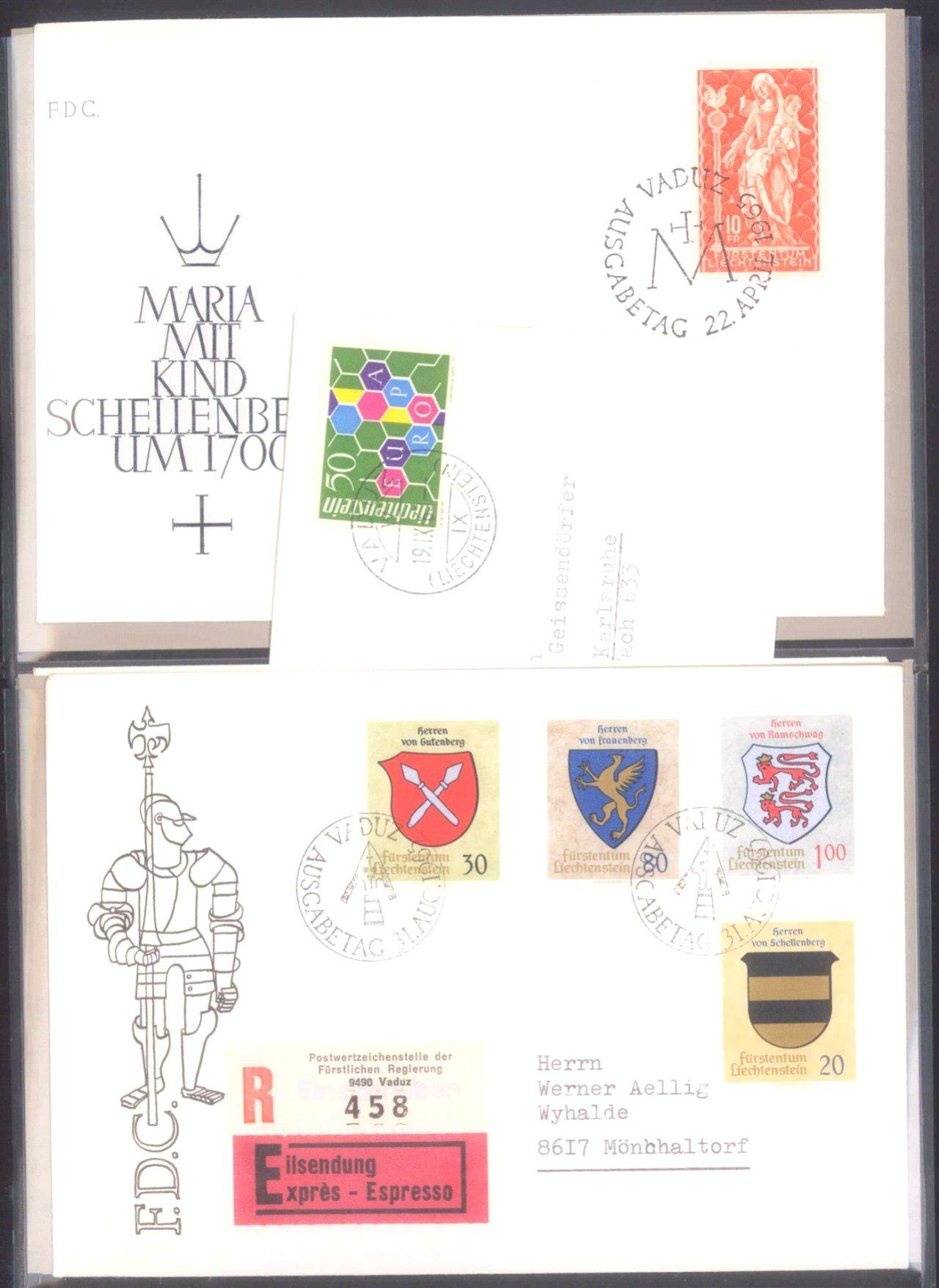 5 Alben Briefe Östereich, BRD und Liechtenstein