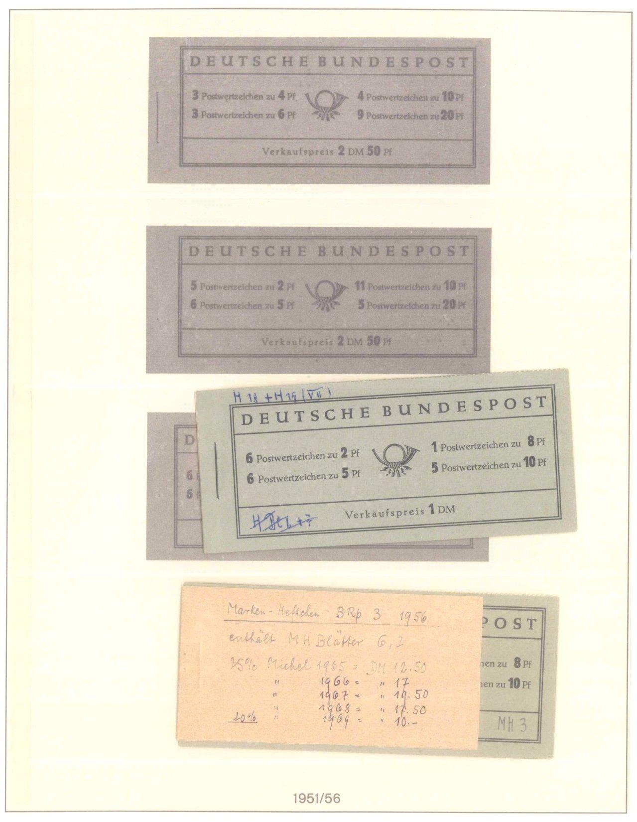 Markenheftchensammlung, Bund, Berlin, DDR, Alle Welt-3