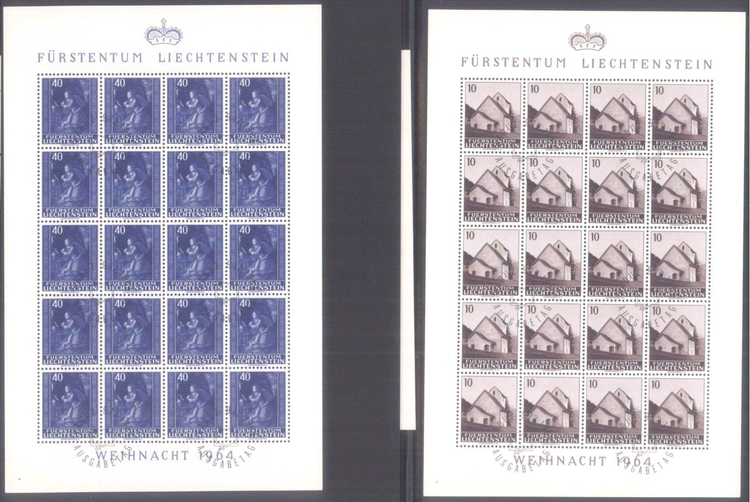 Fürstentum Liechtenstein Bögen 1962-1993-1