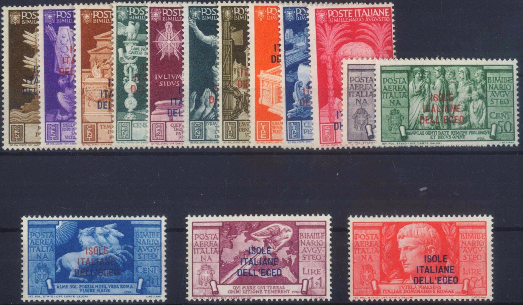 ÄGÄISCHE INSELN 1938 ISOLE / ITALIANE / DELLEGEO