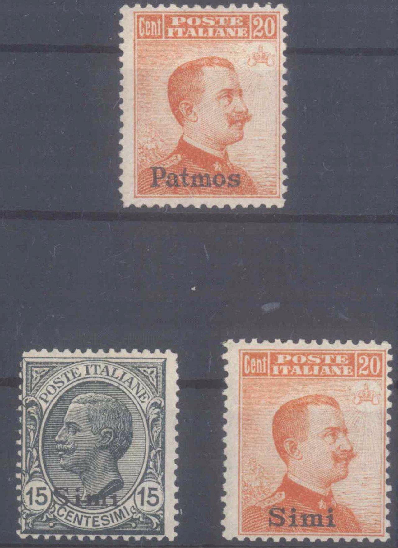 ÄGÄISCHE INSELN 1912 – PATMOS un SIMI