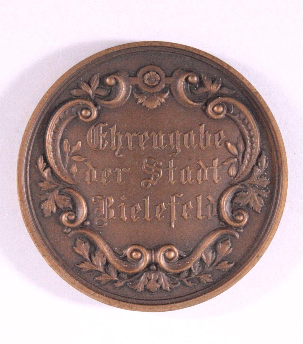 Medaille, Ehrengabe der Stadt Bielefeld