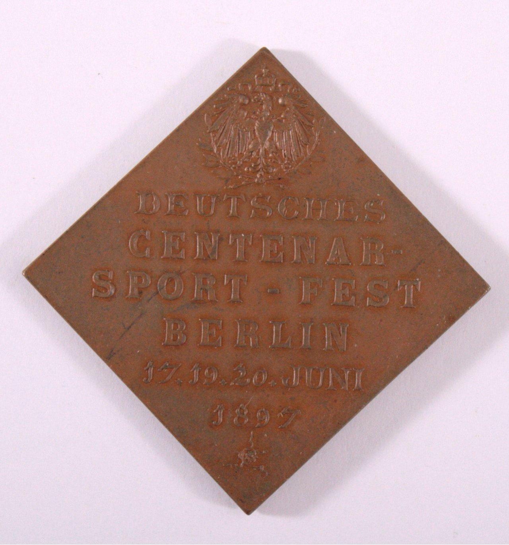 Medaille Deutsches Centenar-Sportfest, Berlin 1897-1
