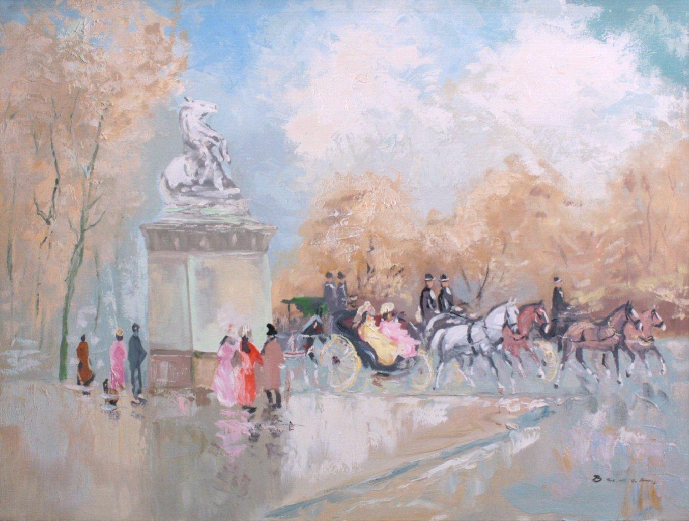 H. Busch, Königschloss Paris um 1900-1