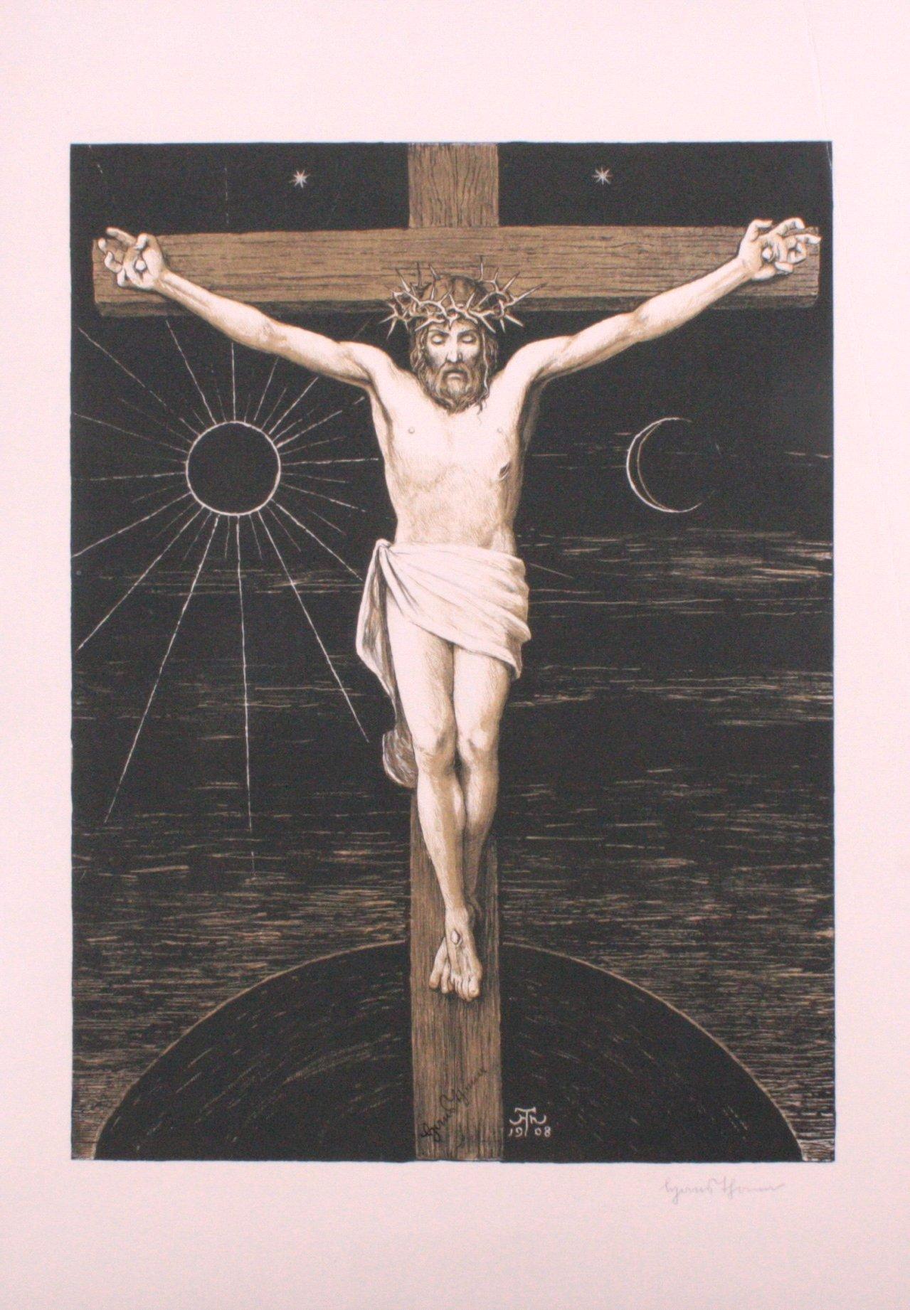 Hans Thoma 1839-1924. Jesus am Kreuz (1903)